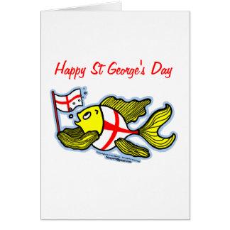 Poissons anglais de drapeau de St Georges de jour Carte