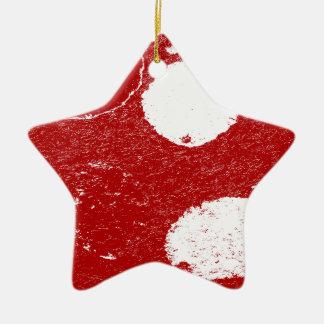 poissons blancs ornement étoile en céramique