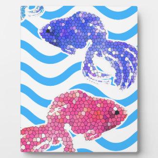 poissons de fantaisie plaque photo