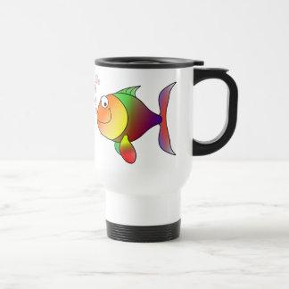 Poissons drôles mignons - colorés mug de voyage