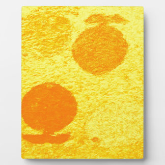 poissons oranges photo sur plaque