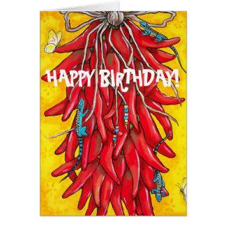 Poivre rouge Ristra du Chili de piment de carte