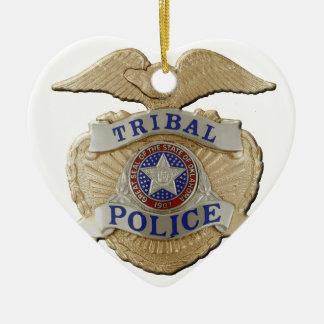 Police de tribal de l'Oklahoma Ornement Cœur En Céramique