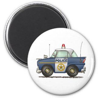 Police de voiture de police magnet rond 8 cm