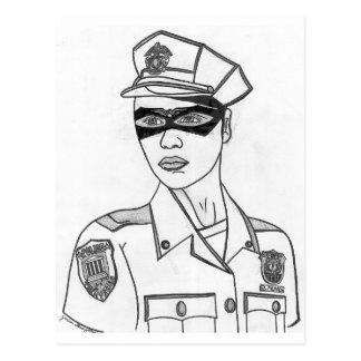 Policière superbe carte postale