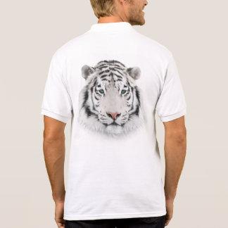 Polo blanc de tête de tigre polo