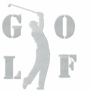 Polo brodé par golf