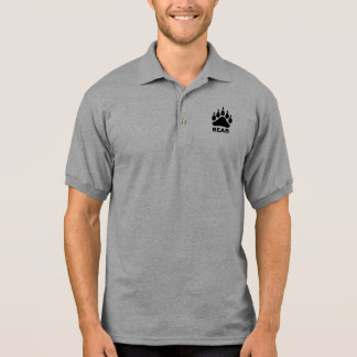 Polo Ours gai de symbole de patte d'ours noir