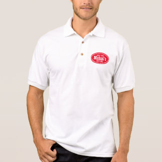 Polo Promo occidental rouge personnalisable d'affaires