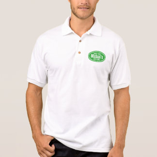 Polo Promo occidental vert personnalisable d'affaires