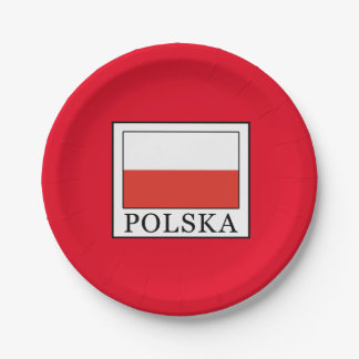 Polska Assiettes En Papier