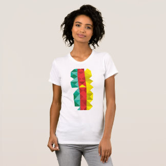 Poly drapeau du Cameroun, couleurs du Cameroun T-shirt