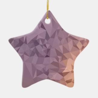 Polygone Backgrou d'abrégé sur bleu orange Ornement Étoile En Céramique