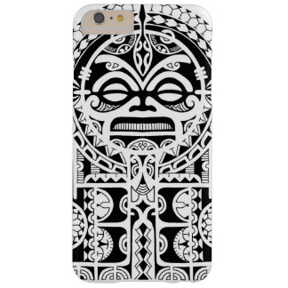 Polynesisch stammentattooontwerp met tikimasker barely there iPhone 6 plus hoesje