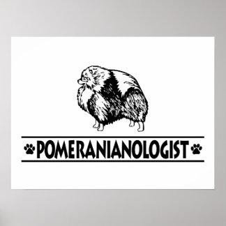 Pomeranian humoristique affiche
