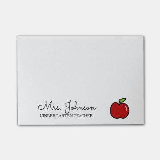 Pomme personnalisée de rouge de maître d'école de post-it®