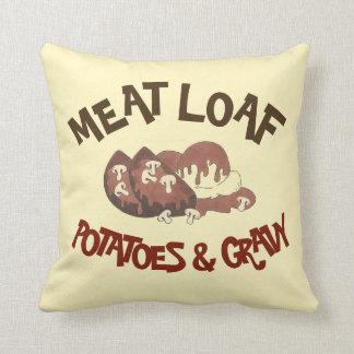 Pommes de terre de Meat Loaf et pain de viande de Coussin