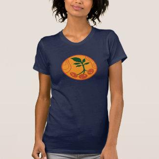 Pommes de terre sur le T-shirt des femmes de Mars