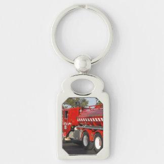 Pompe à incendie rouge, porte-clés en métal de