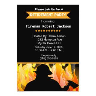 Pompier/chef des pompiers d'invitation de retraite carton d'invitation  12,7 cm x 17,78 cm