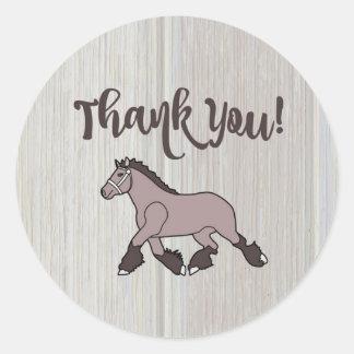 Poney de Merci Sticker Rond