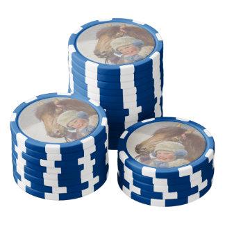Poney nostalgique de baie d'animal familier jetons de poker