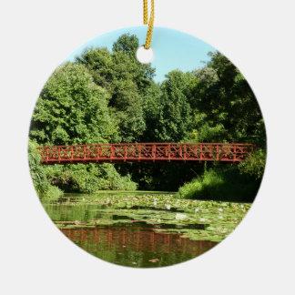 Pont à la ville centennale le Maryland d'Ellicott Ornement Rond En Céramique