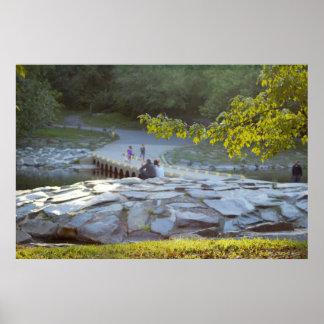 Pont au-dessus de crique de Neshaminy au parc de Poster