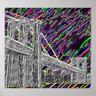 Pont au néon de New York