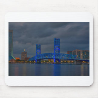 pont bleu HDR de jax Tapis De Souris