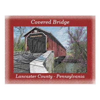 Pont couvert - carte postale
