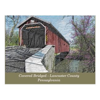 Pont couvert - Lancaster, PA - carte postale