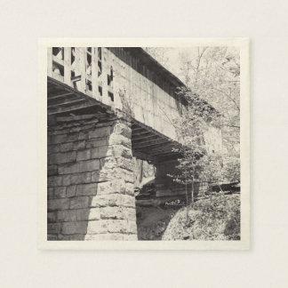 Pont couvert serviettes jetables