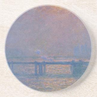Pont croisé de Charing, la Tamise par Claude Monet Dessous De Verre