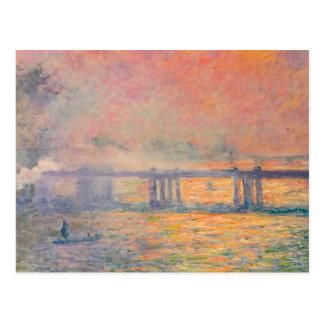 Pont croisé de Claude Monet Charing Carte Postale