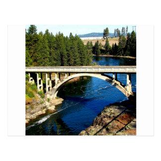 Pont d'Alaska de rivière de l'eau Carte Postale