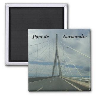 Pont de Normandie - Magnet Carré