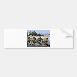Pont de St Angelo, Rome, Italie de Castel Autocollant De Voiture