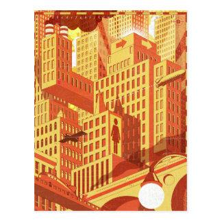 Pont de ville carte postale