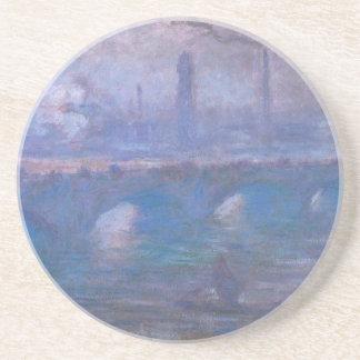 Pont de Waterloo, matin brumeux par Claude Monet Dessous De Verre