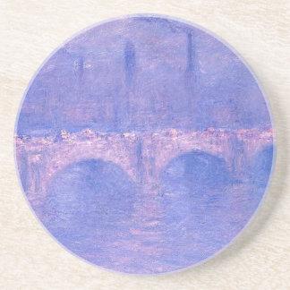 Pont de Waterloo, soleil flou par Claude Monet Dessous De Verres