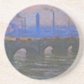 Pont de Waterloo, temps obscurci par Claude Monet Dessous De Verres