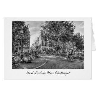 Pont de Wolvenstraat Singel, bonne chance sur le Carte De Vœux
