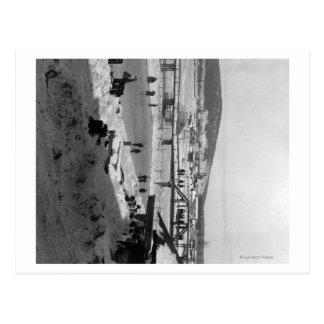 Pont d'hiver au-dessus de rivière à Fairbanks Carte Postale