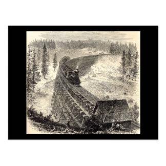 Pont en chevalet sur le chemin de fer Pacifique Carte Postale