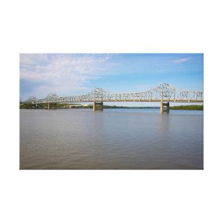 Pont et copie de toile de rivière