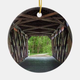 Pont intérieur Hillsboro Missouri de crique de Ornement Rond En Céramique