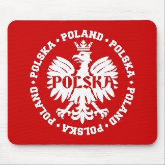 Pools Eagle met de Tekst van Polen Polska Muismat