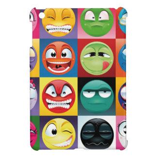 pop-art emojis iPad mini cases