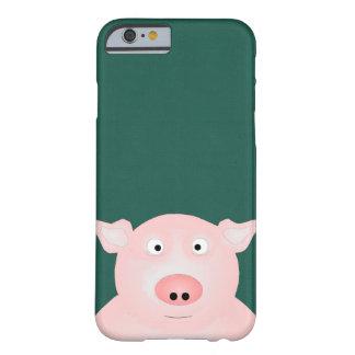 Porc dans un coque iphone de poussée